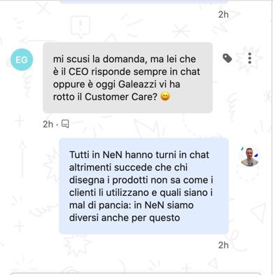 Customer care di NeN sui social