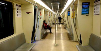 Alcune fermate della metro sono state chiuse a causa della pioggia a Roma