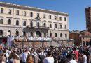 La manifestazione dei complottisti del coronavirus a Roma