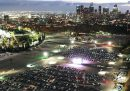 Il drive-in dove i tifosi di Los Angeles guardano le World Series