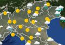 Le previsioni meteo per mercoledì 7 ottobre