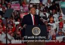 Il primo euforico comizio di Trump dopo essere risultato negativo al coronavirus