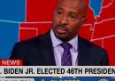 Van Jones commosso in tv dopo la vittoria di Biden