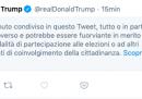 Il tweet di Trump che è stato oscurato da Twitter
