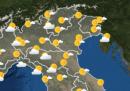 Le previsioni meteo per domani, lunedì 9 novembre