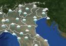 Le previsioni meteo per lunedì 16 novembre