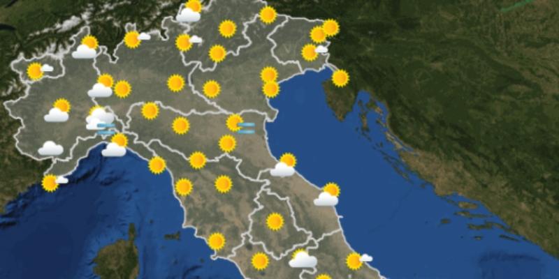 Le previsioni meteo per domani, venerdì 15 ottobre