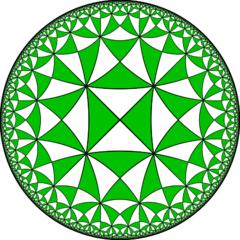 tassellazione di triangoli rettangoli nella geometria iperbolica (di Claudio Rocchini)