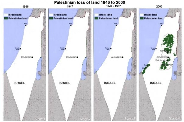 Israele Palestina Cartina.La Mappa Bugiarda Su Israele E Palestina Distanti Saluti
